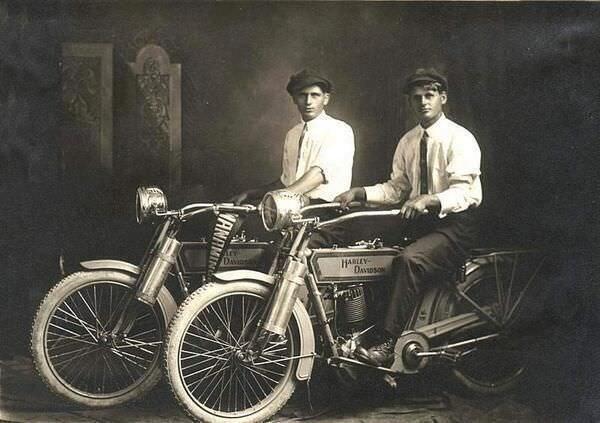 1914 - William Harley and Arthur Davidson