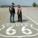 Carla en Anne Jan op Route66 tijdens hun Amerika motorreis in 2015.